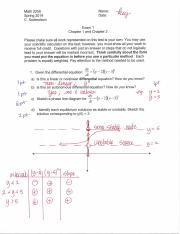 MATH 2250 EXAM 1 KEY