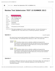 Review Test Submission TEST 10 SUMMER 2013