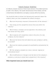 How to do Industrial Analysis  Guidlines.docx