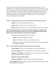 Visual Arguments Presentation Essay