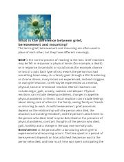 grief bereavement and mourning.docx