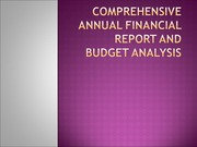 ACC 548 Week 6 Individual Assignment Comprehensive Annual Financial Report