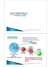 Lecture 3  Atomic Theory