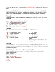 homework 14 spring 2014 answer key
