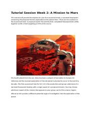 Week 2 Tutorial Session - A Mission to Mars.docx