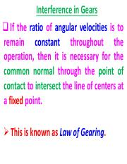 5. Interference in Gearing