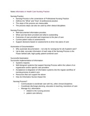 Notes Informatics in Health Care Nursing Practice