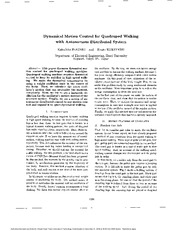 Dynamical Motion Control for Quadruped Walking with Autonomous Distributed System