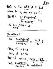 MATH 10101 Fall 2008 Limits that Exist Class Example