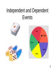 Day 3 - Independent and Dependent Events.ppt