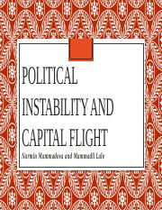 Macro Political instability and Capital flight