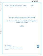 Financial literacy around the world