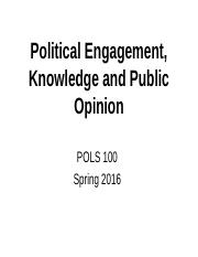 Political engagement in the American public