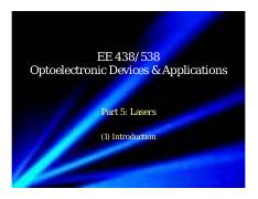 2016_EE438538_Part_5_Lasers_1_Intro