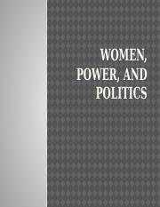 Week 8 PowerPoint Lecture-Women, Power, and Politics.pptx