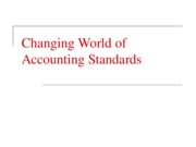 Changing World of Accounting Standards