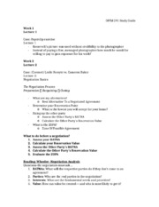 OPIM 291 Study Guide