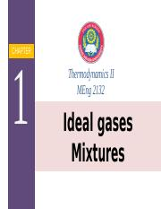 chapter 1 Ideal gases Mixtures new