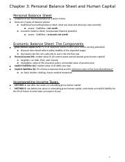 Chapter 3 - Personal Balance Sheet and Human Capital.docx