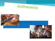 speech of euthanasia