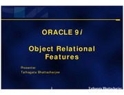 Chap3-Oracle9i ORDBMS