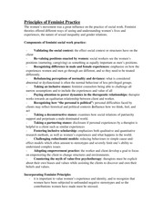 Social Work 1a06 - Principles of Feminist Practise