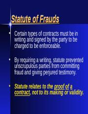 Statutes of Fraud