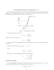 MATH 1000 Fall 2007 Newton-Raphson Method for Finding Roots