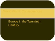 COURSE, EUROPE IN THE TWENTIETH CENTURY, LECTURE 16, WORLD WAR II CONSEQUENCES (1)