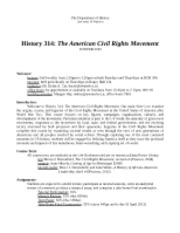 Hist314 - Civil Rights - syllabus 2013