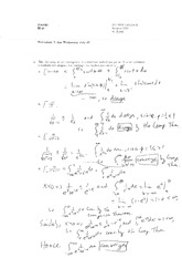 Worksheet 7 Solution on Calculus 2
