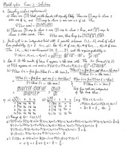 Exam 2 Review Solution on Probability
