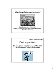 Why Study Environmental Health(1)-1
