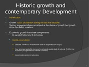 Historic Growth and comtemporary Dev.