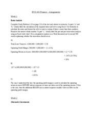 BUS 401.Finance – Assignments