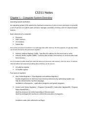 CS311 Notes - Chapter 1.docx