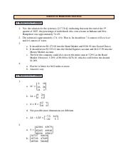 Answers to Homework Exercises