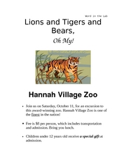 Hannah Village Announcement