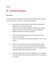 PSY 315 Ch. 1 Practice Problems