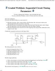 Sequential Circuit Timing Parameters