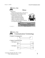 Study Guide on Serial Communication