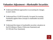Lecture 22 Marketable Securities
