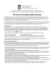 second-company-site-interview