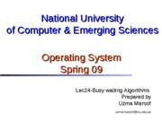 Lec24-Busy Waiting Algorithms