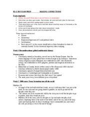 RLG 203 EXAM PREP study notes for whole course pg. 1-2