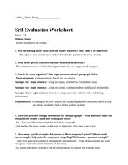 essay self evaluation worksheet