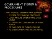 Topic 2b- Government system and Procedure Act