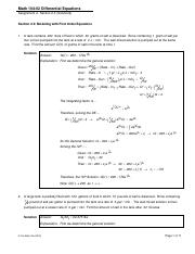 Math 104-02 (DE) - Assignment 04 (Section 2-3) - Modeling with First Order Eqs (Solutions)