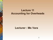 Accounting for Overheads_S