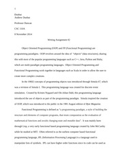 CSC Writing Assignment 2